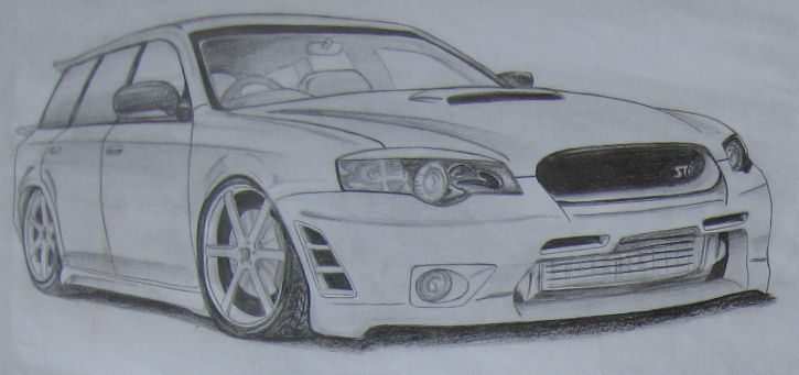 725x341 Old Subaru Legacy Drawing By Ssjkell