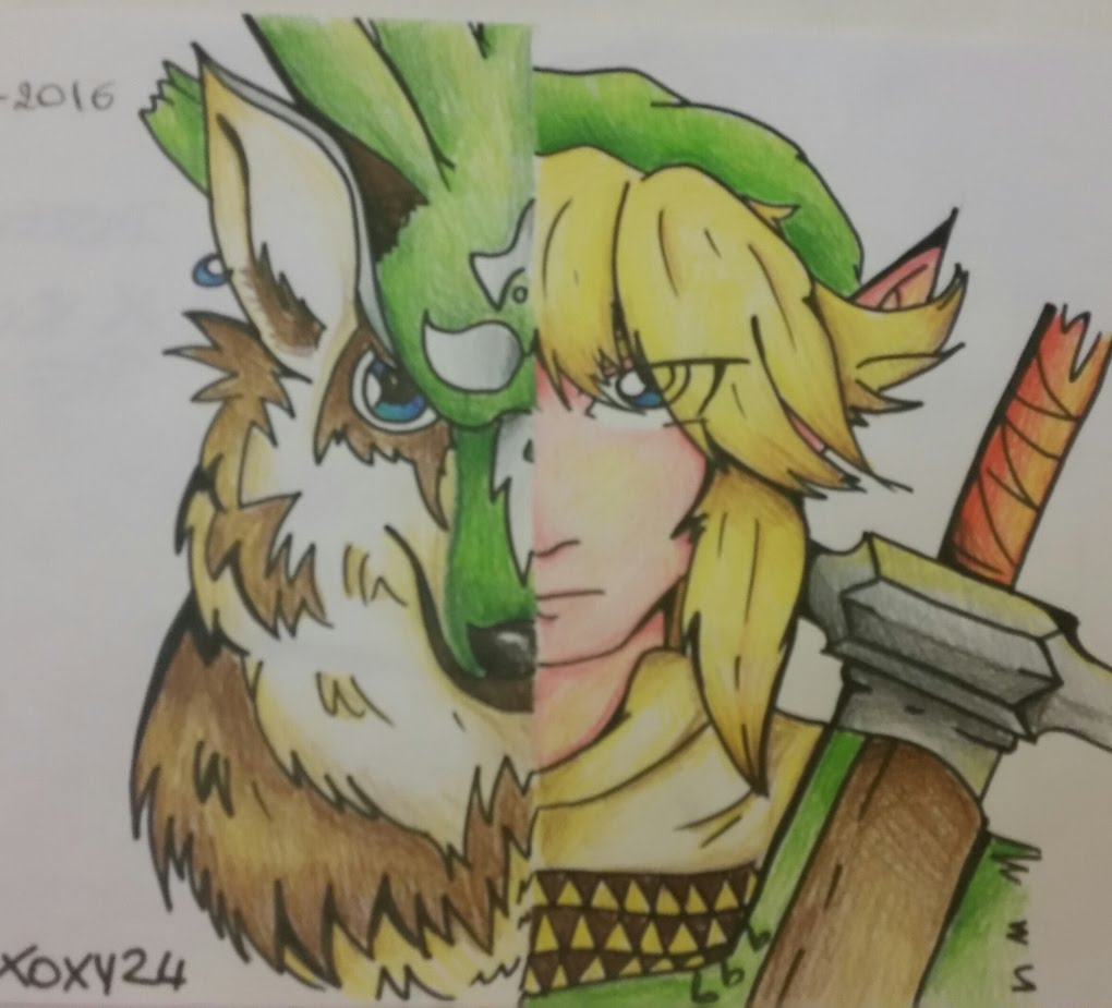 1020x925 The Legend Of Zelda How To Draw Link And Wolf Link (Spiegazioni
