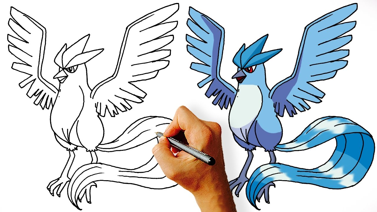 1280x720 How To Draw Articuno Step By Legendary Pokemon