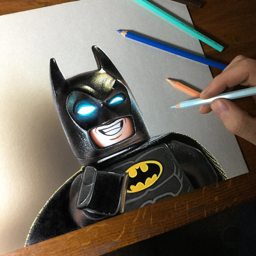 894x894 Lego Batman Drawing By Marcellobarenghi