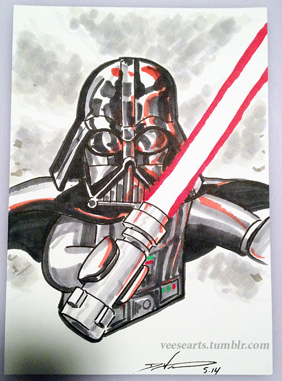 551x746 Lego Darth Vader Convention Sketch By Danveesenmeyer