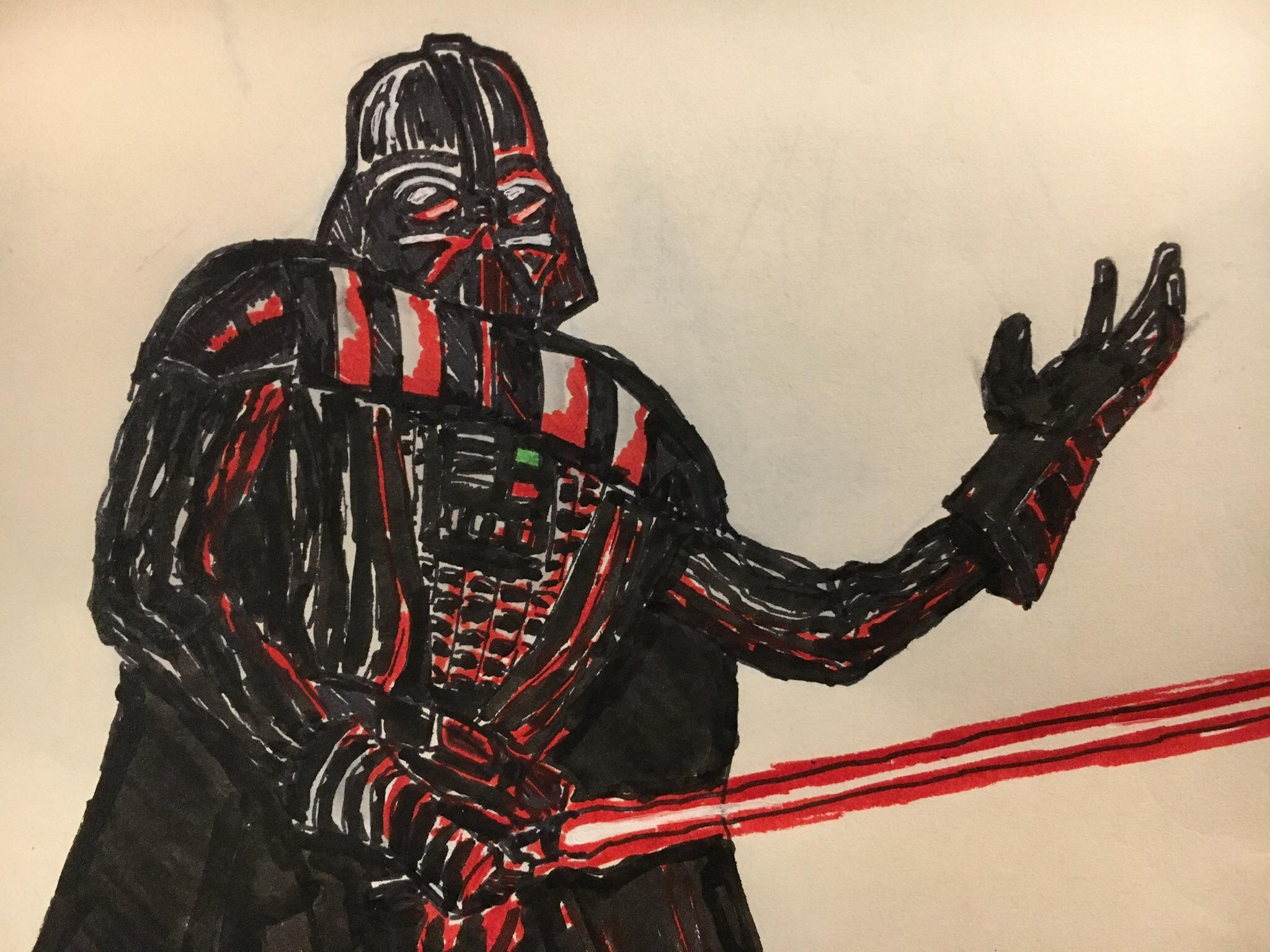 2048x1536 Together, We Can Rule The Ink Drawing Of Darth Vader I