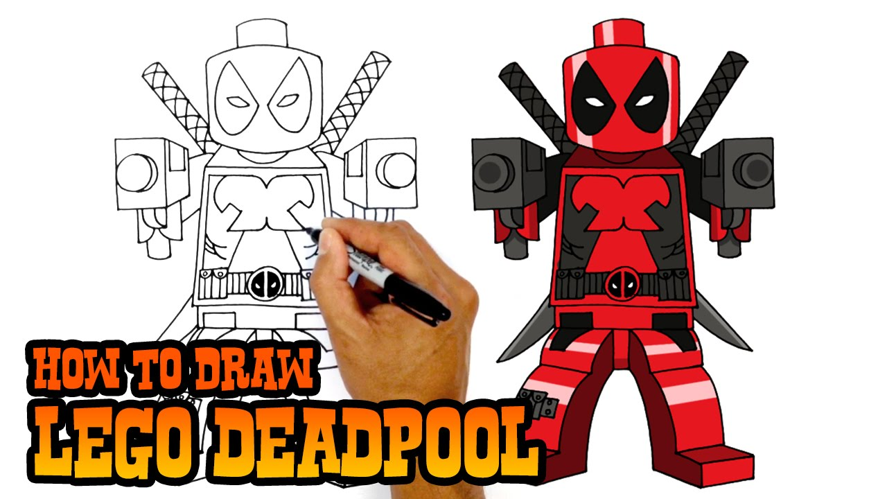 1280x720 How To Draw Lego Deadpool Drawing Lesson