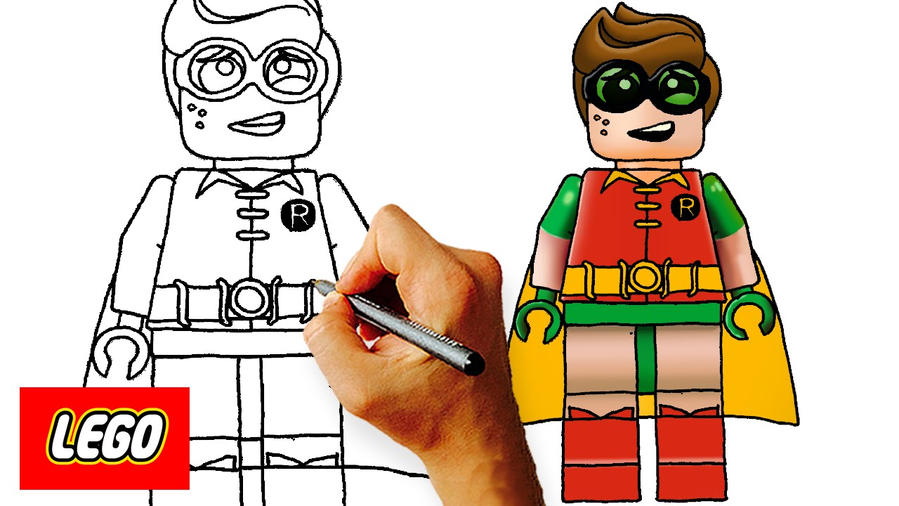 1280x720 How To Draw Lego Robin Step By Art Lesson For Kids