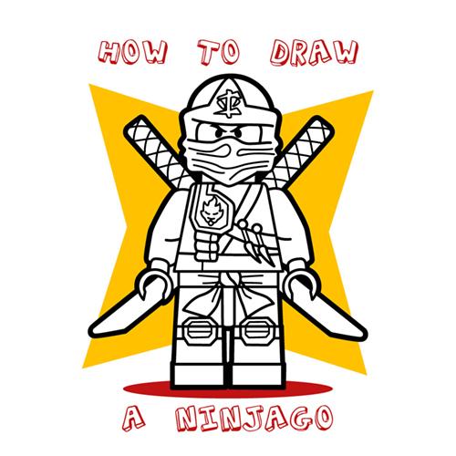 500x500 How To Draw How To Draw A Lego Ninjago Ninja