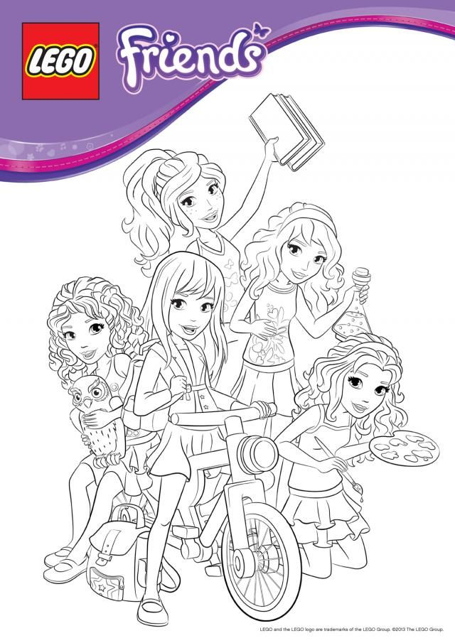 640x905 Coloring Pages Coloring Pages Lego, Lego Friends