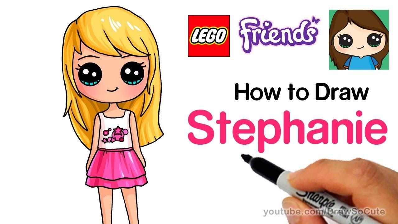 1280x720 How To Draw Lego Friends Stephanie Art Completed