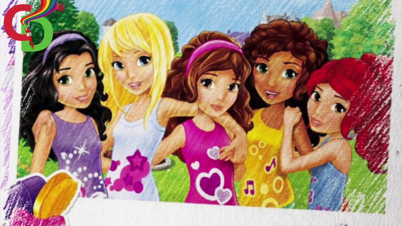 1280x720 Lego Friends Cartoon Movie Characters Color Pencil Drawings Video