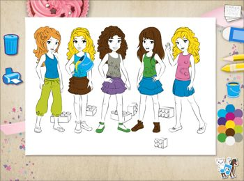 350x260 Lego Friends Drawing Game Unity 3d Games