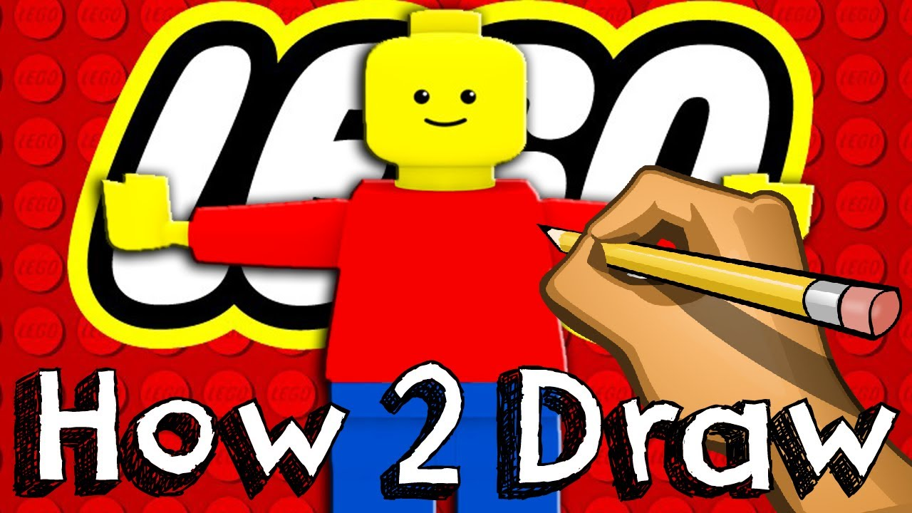 1280x720 How To Draw A Lego Minifigure Drawing Coloring Learning