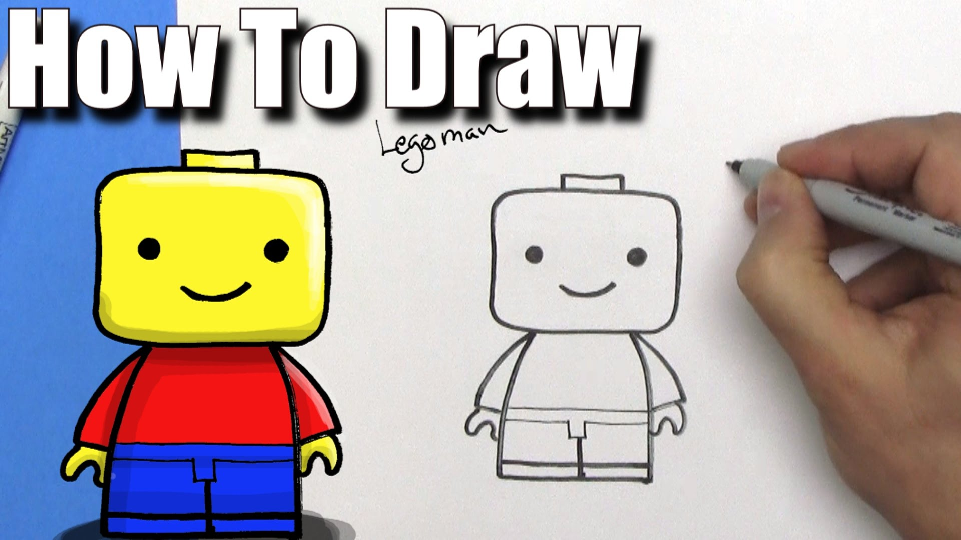 1920x1080 How To Draw A Cute Easy Lego Man