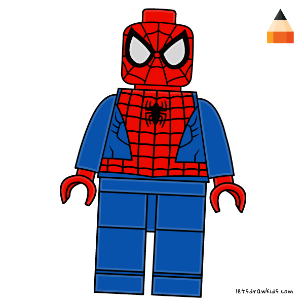 600x600 How To Draw Lego Minifigure With Easy Step By Step Drawing Video