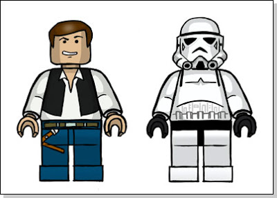 400x286 Lego Toys Drawing Lego Han Solo And Stormtrooper
