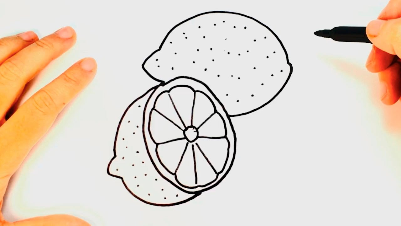 1280x720 How To Draw A Lemon Lemon Drawing Lesson Step By Step