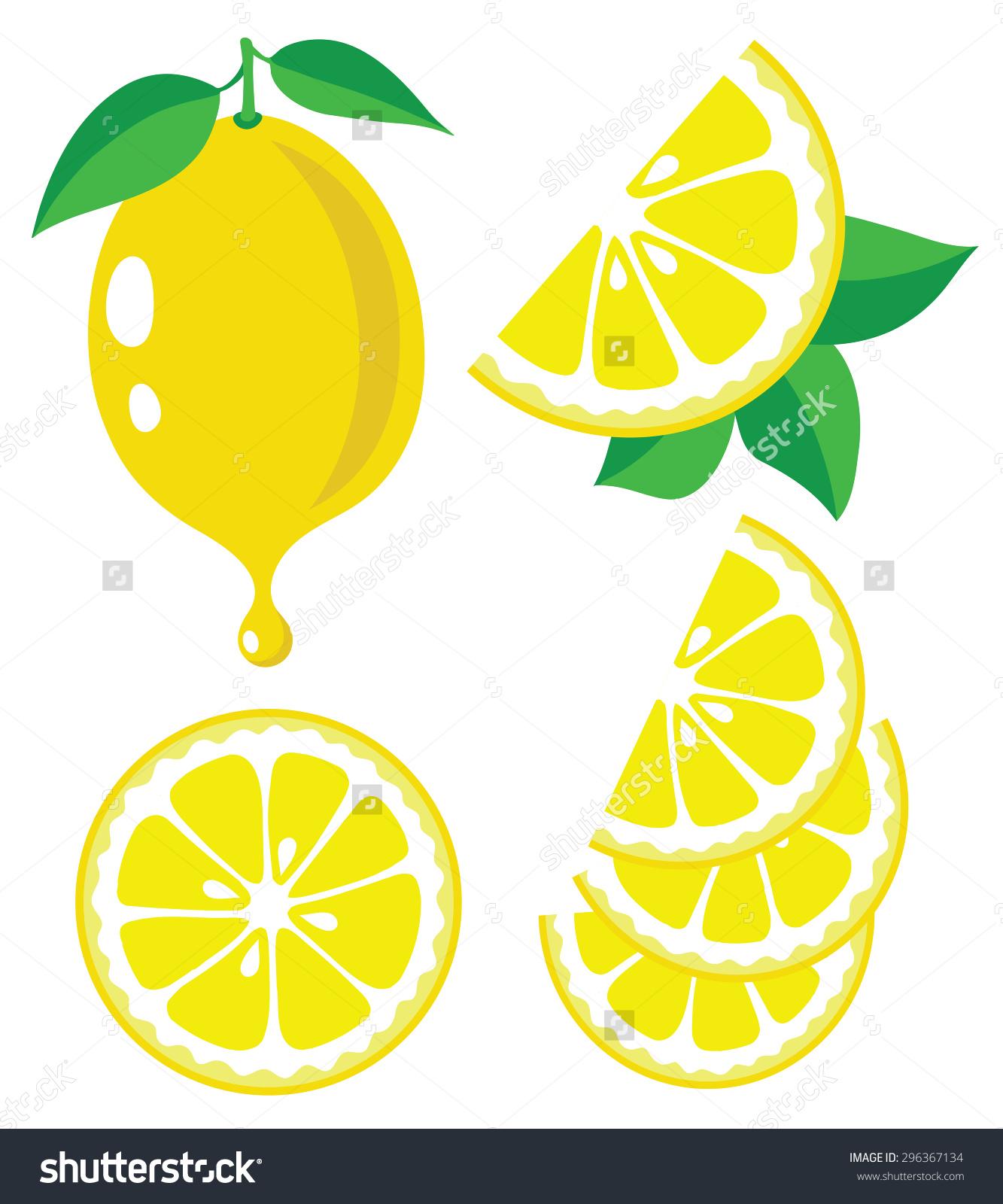 1333x1600 Stock Vector Vector Lemon Lemon Fruit Slices And Drop Of Lemon