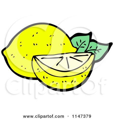 450x470 Cartoon Of A Lemon And Wedge