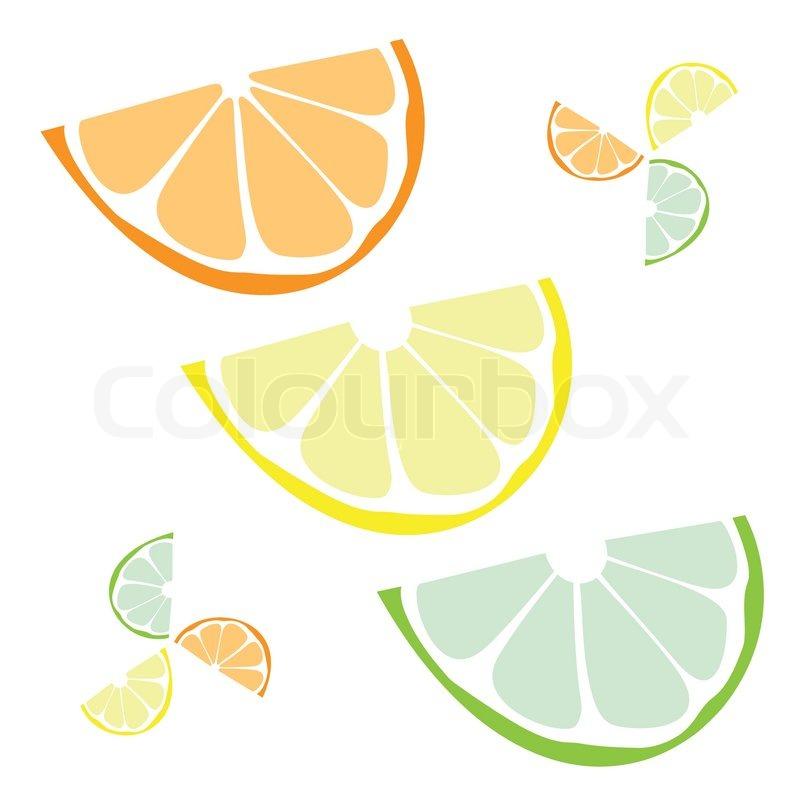 800x800 Citrus Wedges Isolated Over A White Backgroundorange Lemon Lime