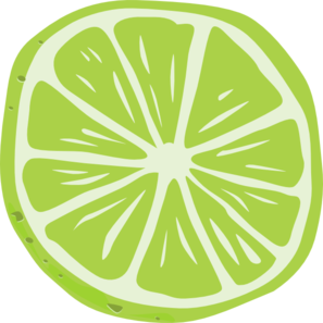 297x297 Lime Slice Clip Art