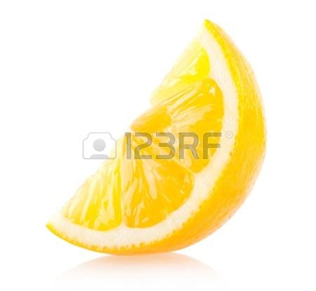 450x414 Slice Of Fresh Lemon Isolated On White Background Stock Photo