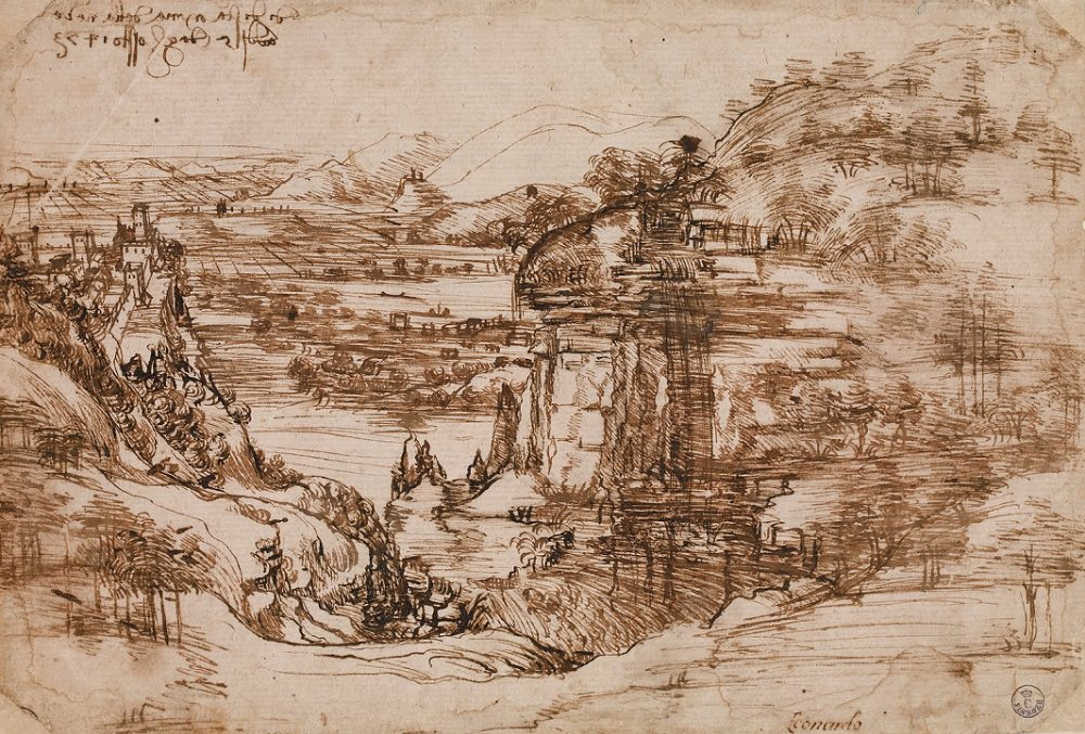 1000x677 Landscape Drawing For Santa Maria Della Neve