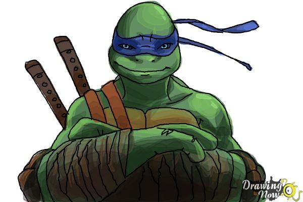 600x400 How To Draw Leonardo From Teenage Mutant Ninja Turtles 2014, Tmnt