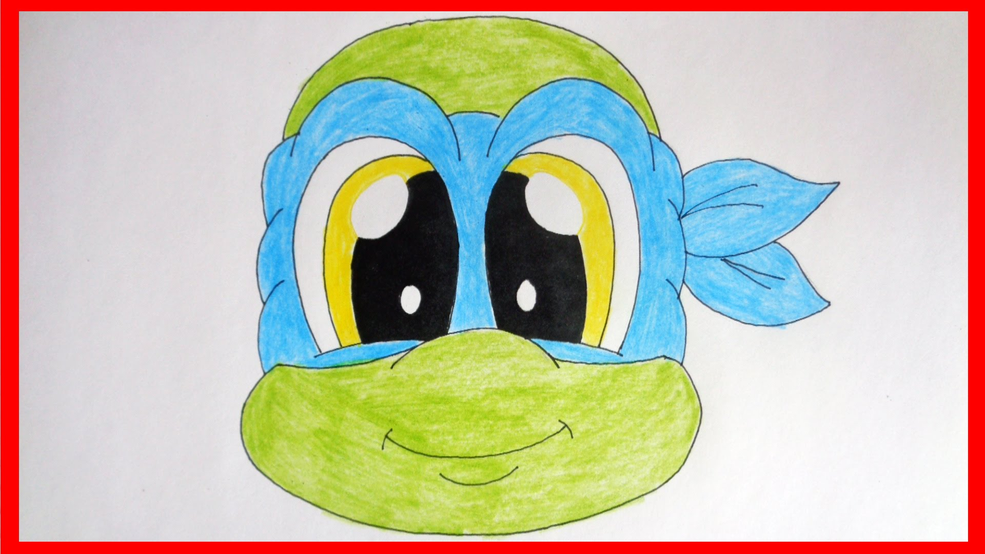 1920x1080 How To Draw Cute Ninja Turtles, Leonardo