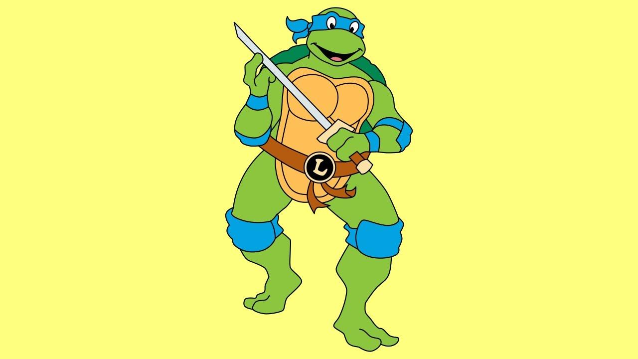 1280x720 How To Draw Leonardo Teenage Mutant Ninja Turtles 1987 Tv Series