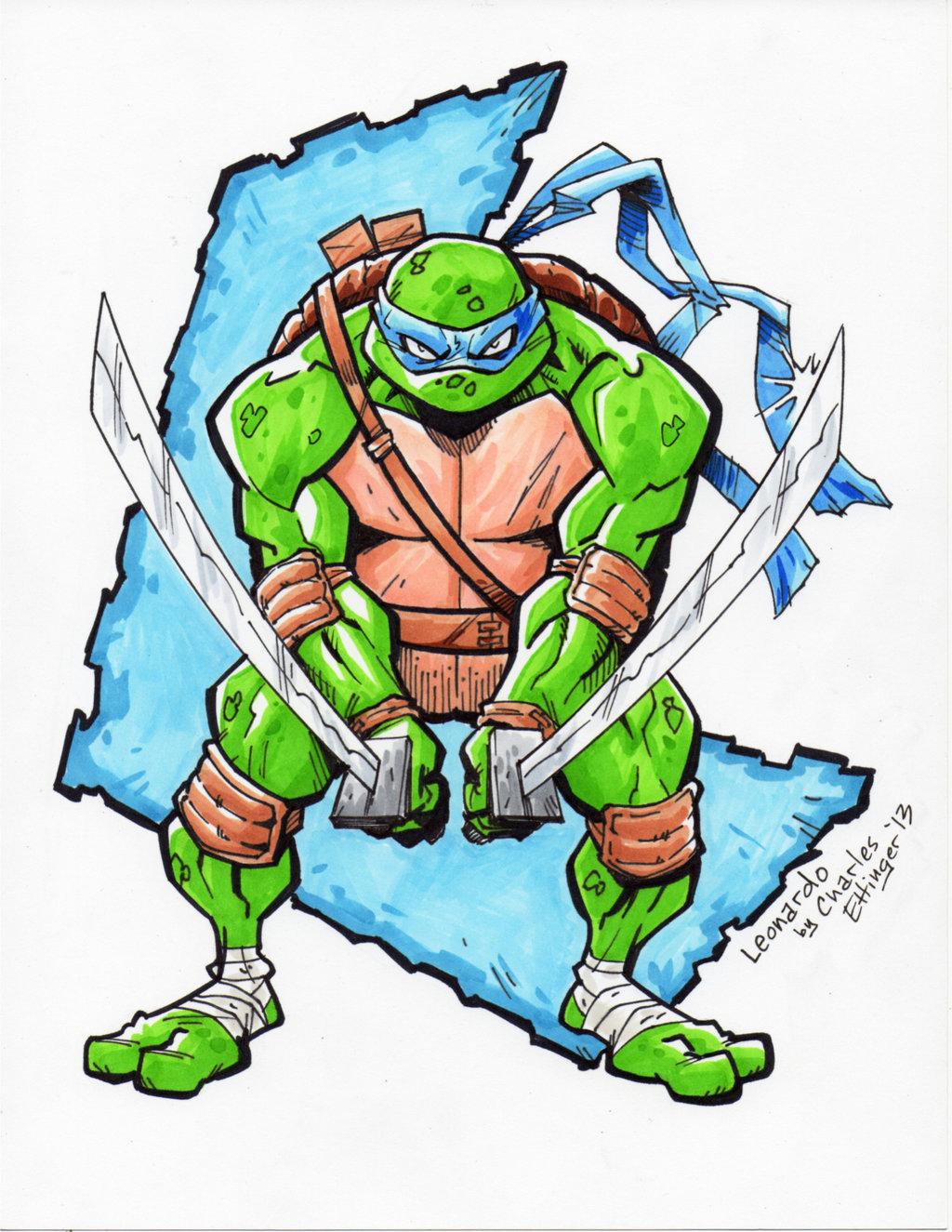 1024x1325 Teenage Mutant Ninja Turtles Leonardo By Charlesettinger