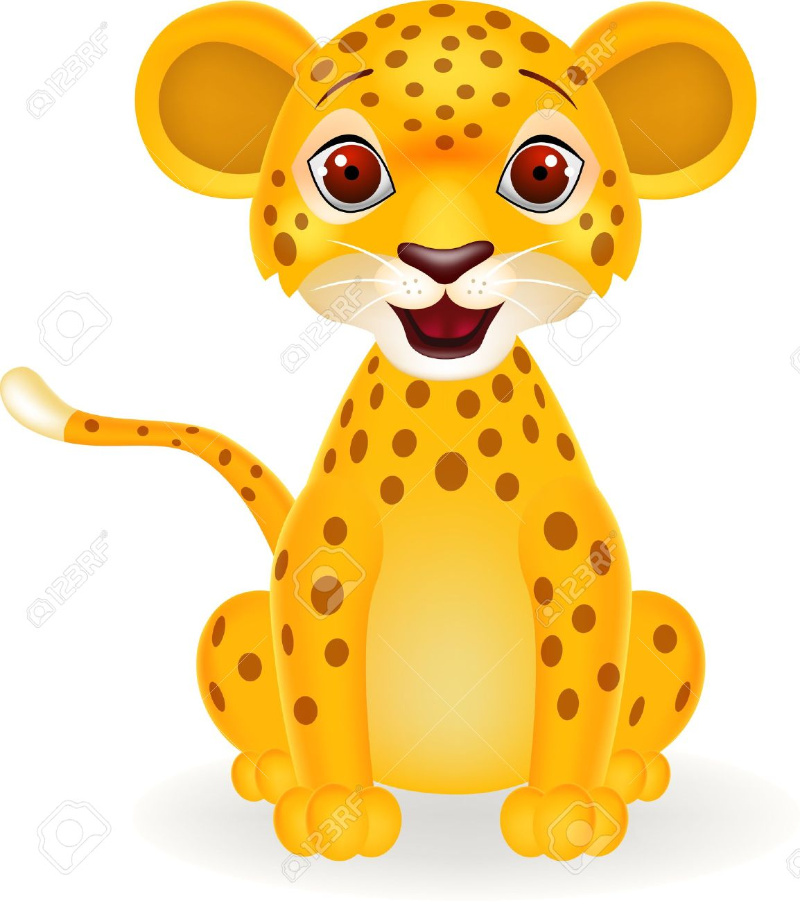 1154x1300 Animals For Gt Cute Cartoon Baby Leopard Craft