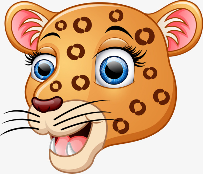 650x558 Cartoon Leopard, Cartoon Drawing, Leopard, Animal Png Image