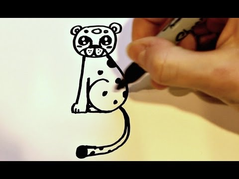 480x360 How To Draw A Cartoon Leopard