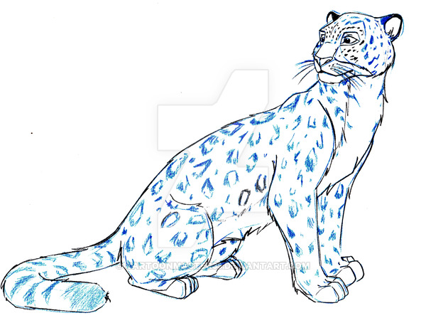 600x447 Snow Leopard Cartoons Snow Leopard By Cartoon Leopard Tattoo