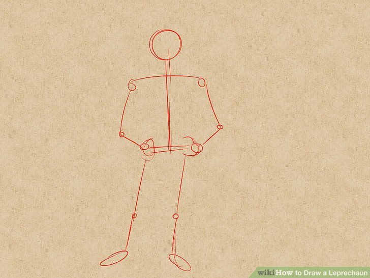 728x546 How To Draw A Leprechaun (With Pictures)