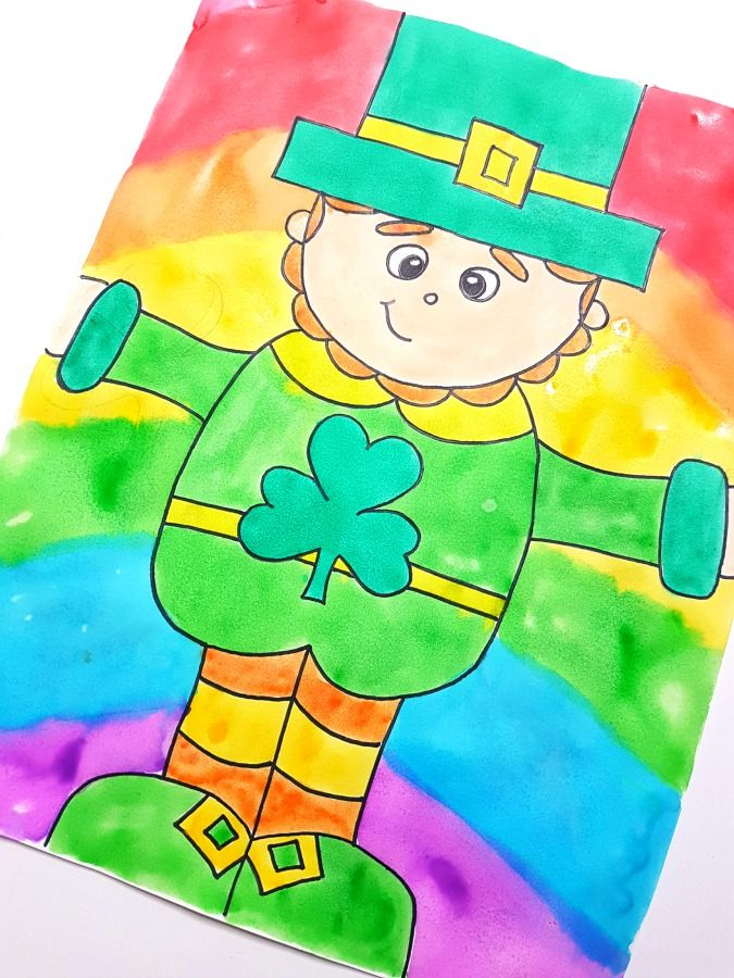 675x900 Leprechaun Directed Drawing For St. Patrick's Day Printable Art