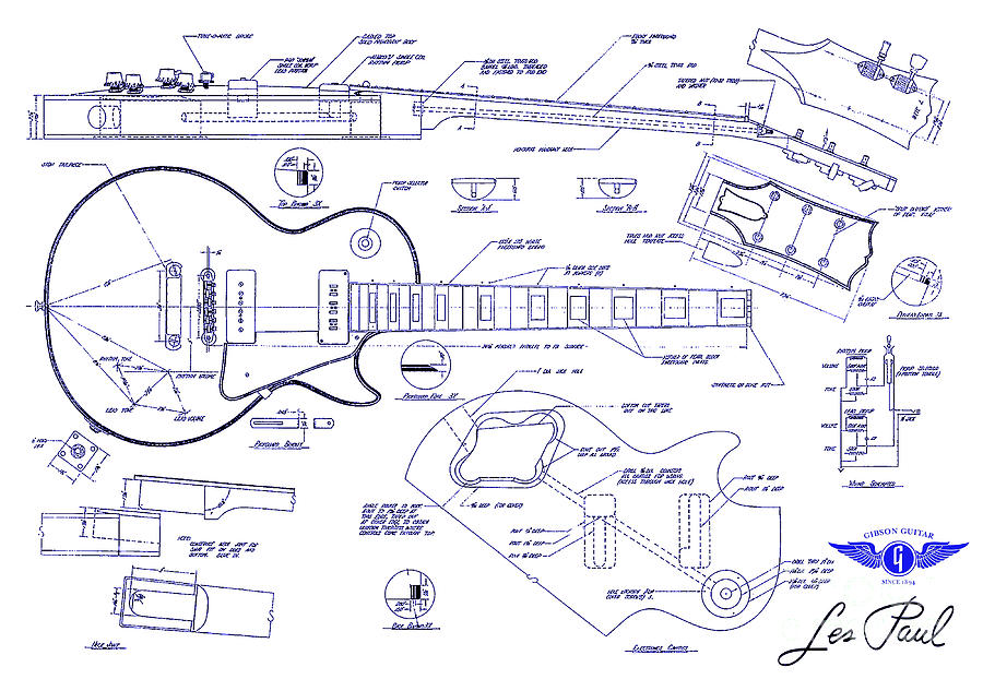 Les paul drawing at getdrawings free for personal use les paul 900x622 gibson les paul blueprint drawing drawing by jon neidert malvernweather Image collections