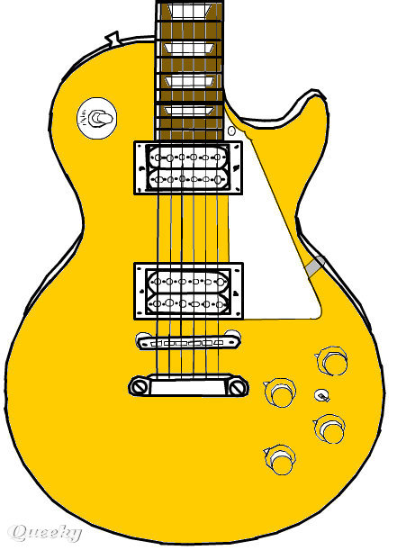 441x611 Epiphone Les Paul Goldtop 56 A Music Speedpaint Drawing By