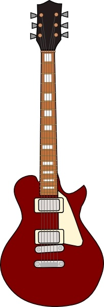 204x598 Gibson Les Paul Guitar Clip Art Free Vector In Open Office Drawing