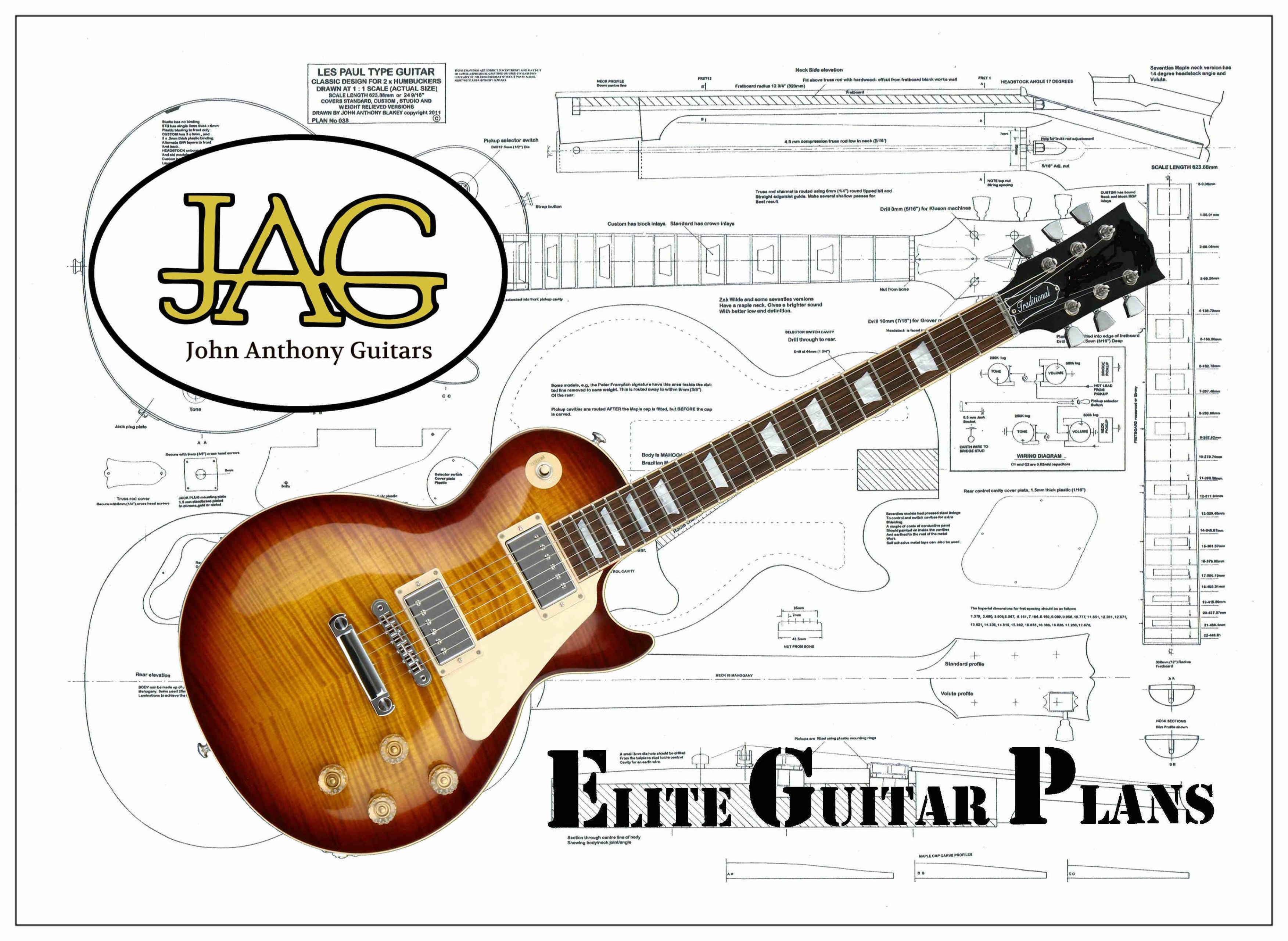 Les Paul Guitar Drawing At Free For Personal Use 1959 Gibson Wiring Diagram 3505x2560 Plans To Build A