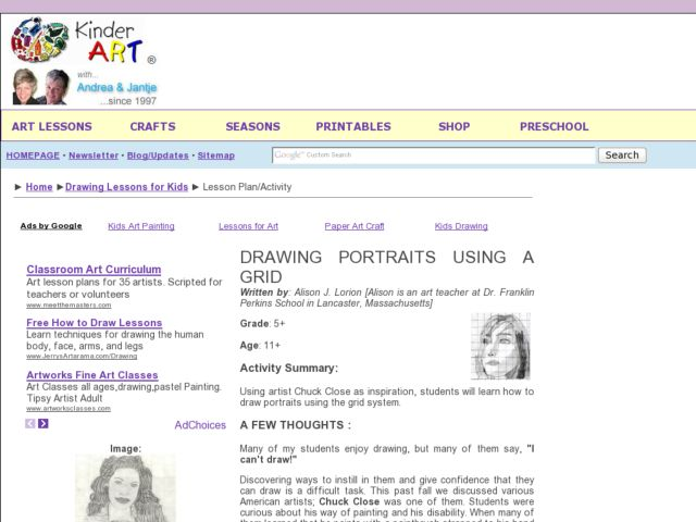 640x480 Drawing Portraits Using A Grid Lesson Plan Lesson Planet