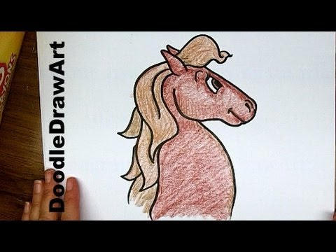 480x360 Drawing Ideas How To Draw A Horse Step By Step Cartoon Drawing
