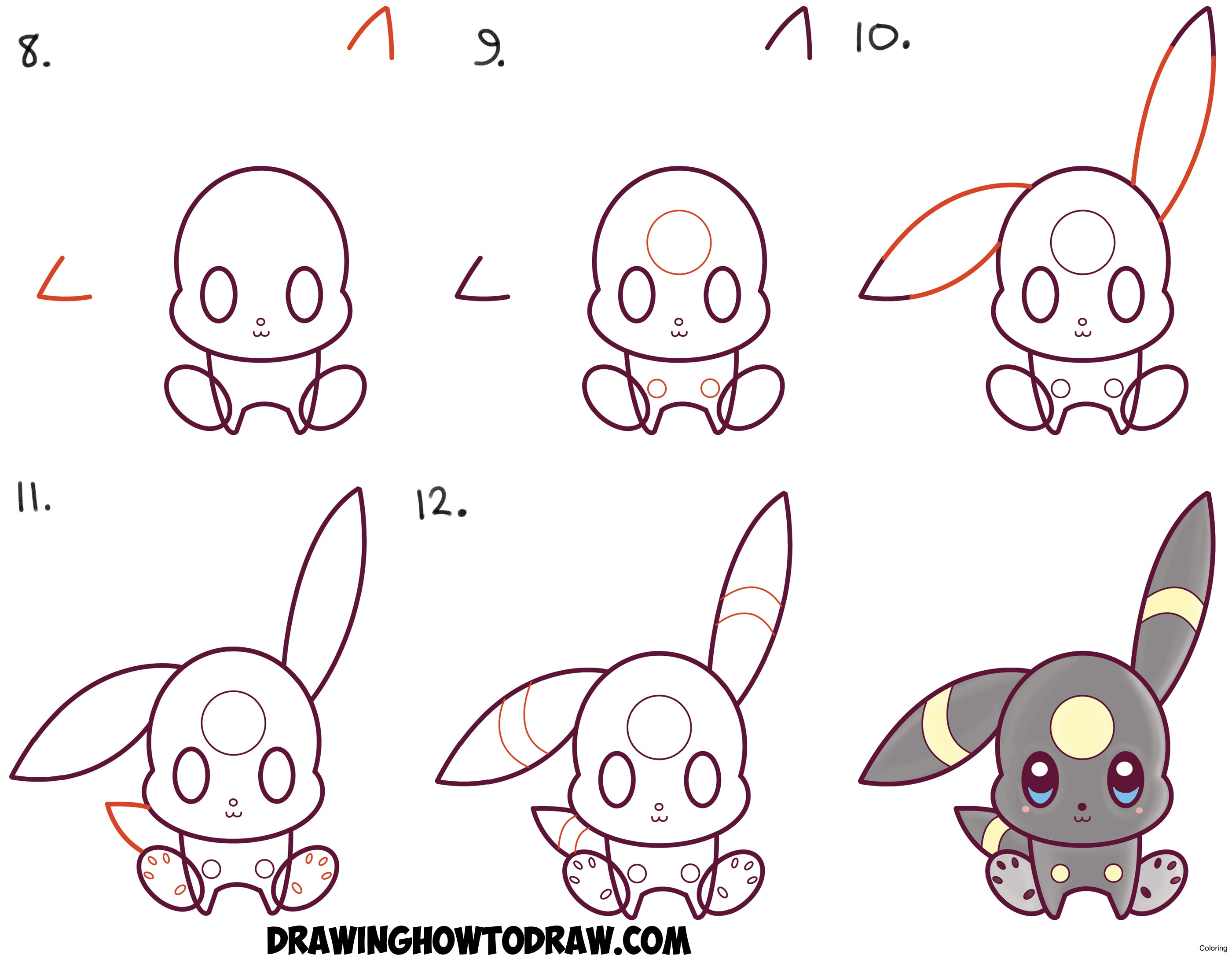 2800x2170 Attractive Kids Drawing Tutorial Draw A Bunny Coloring Pages Step