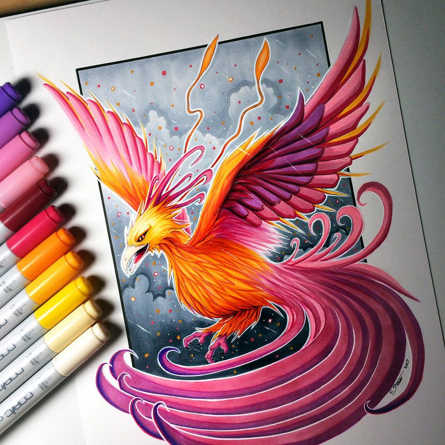 894x894 Phoenix Drawing By Lethalchris Sketchingcoloring