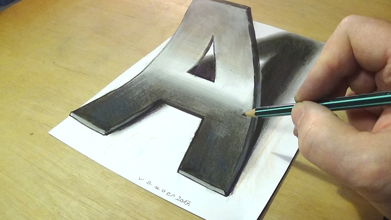 1280x720 How To Draw 3d Letter