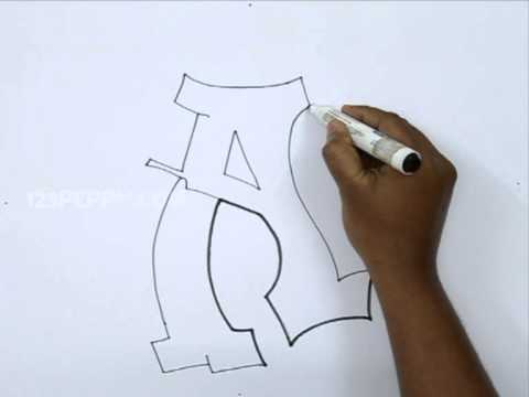 480x360 How To Draw Graffiti Letter