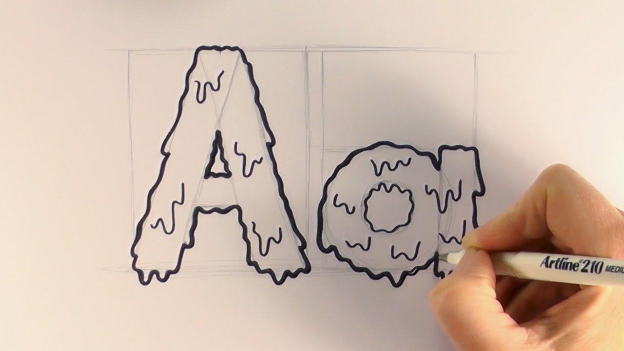 1280x720 How To Draw Cartoon Halloween Slime Letternd
