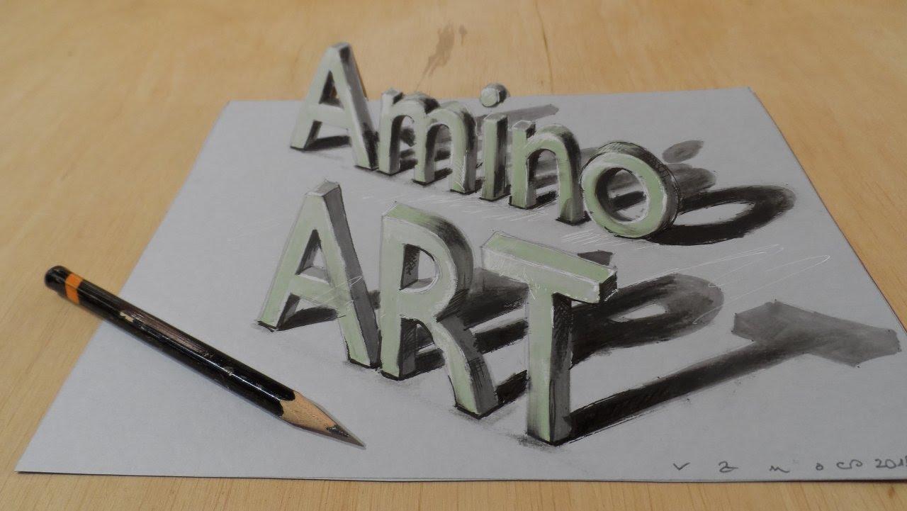 1280x721 Draw A 3d Art Amino, Magic Letters, Optical Illusion