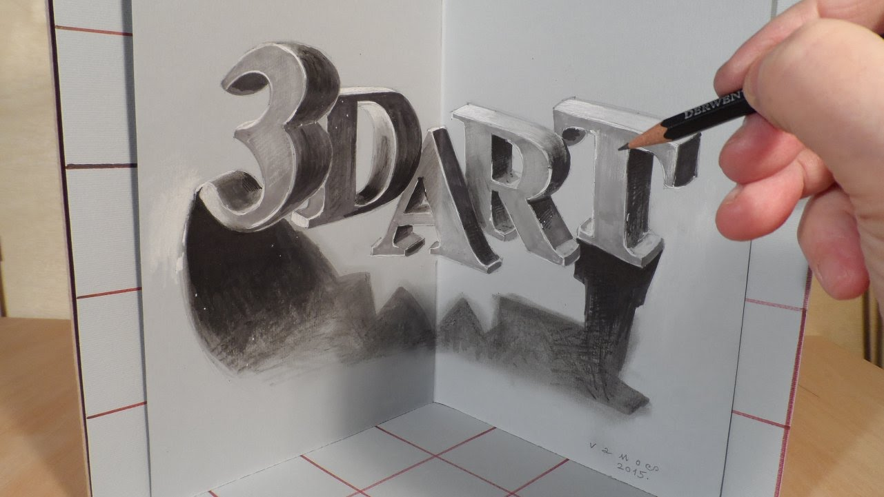 1281x721 Drawing 3d Art Letters, Three Dimensional Space