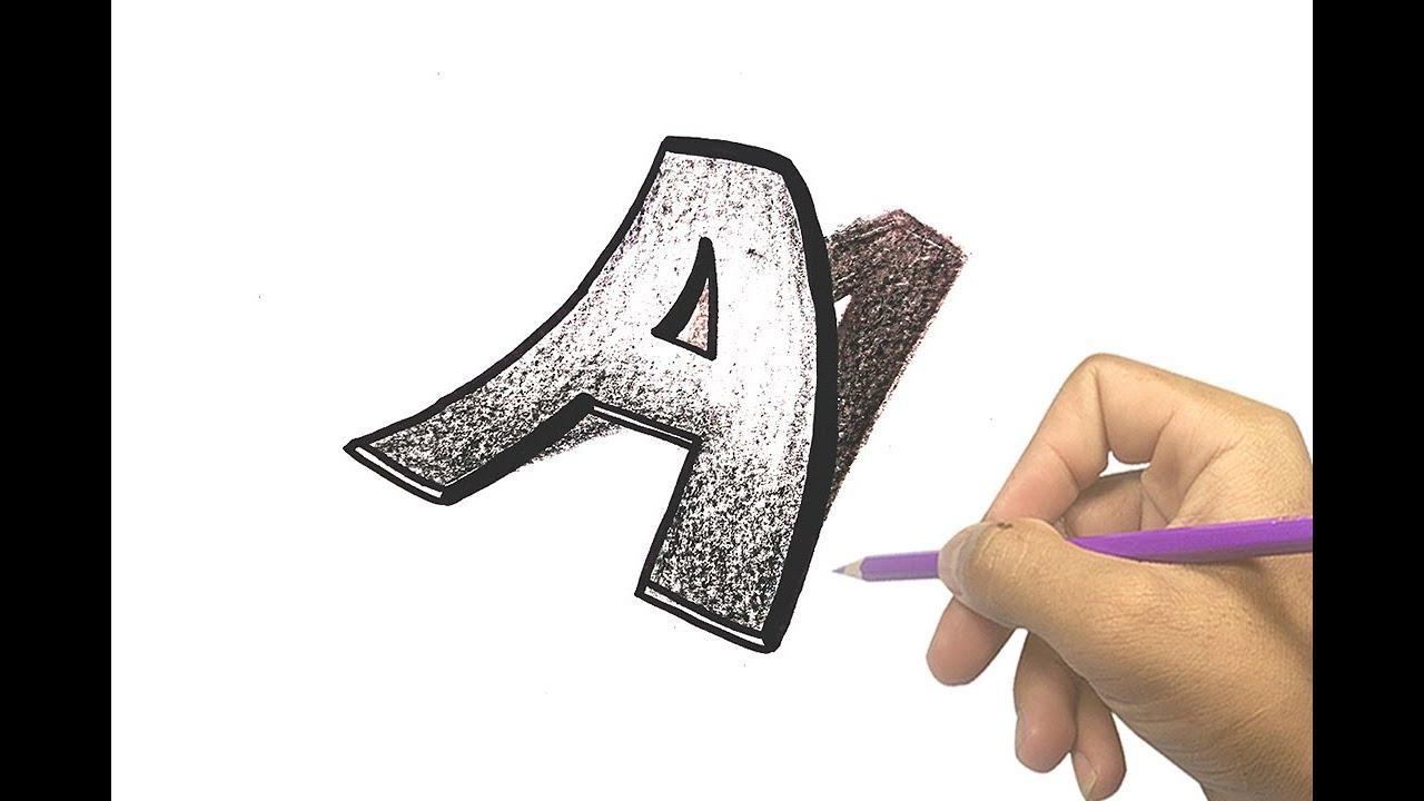 1280x720 How To Draw 3d Letter A Amazing Art Drawing Video Trick Art