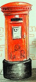 129x288 How To Draw A British Pillar Box (Mail Box) Shoo Rayner Author