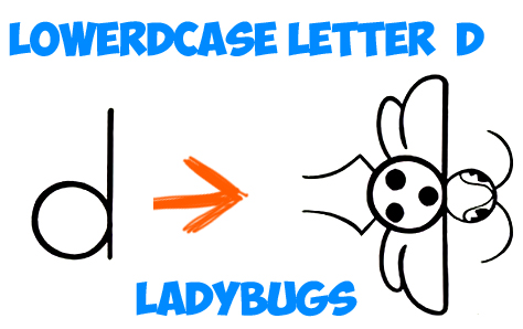 474x298 Drawing Cartoon Ladybug From Cartoon Letter D With Easy Steps